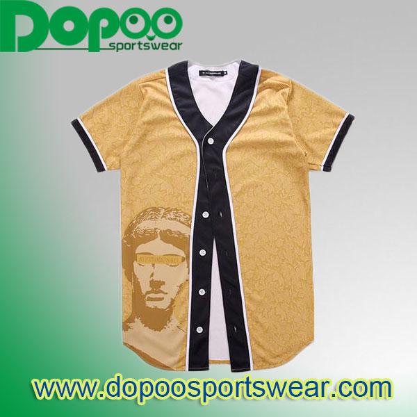 ad140991b full-sublimation-100%-polyester-Custom-sublimated-V-neck-baseball ...